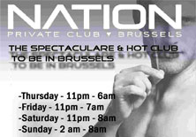 Nation : private gay club in Brussels!