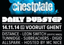 Daily Dubstep presents Chestplate | Vooruit - 14/11/2014